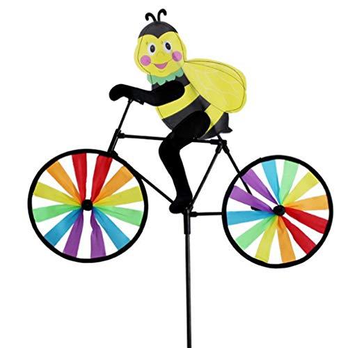 ZHENGX Schöne Handgemachte Wind Spinner Cartoon Tier Fahrrad Garten Hof Party Camping Windmühle Kinder Pädagogische Spielzeug Geburtstag Festival Geschenk