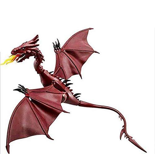 Dinosaurier-Modell, Smaug Modell Hobbit Dinosaurier-Modell Tag des Kindes Geschenk Tiermodell 45.5 * 42Cm (Brauchen, Um Sich Zu Montieren)