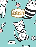 2021 Daily Planner: Day Planner Weekly Agenda High Performance Organizer Schedule Book Notepad to Track Productivity, Flexible Soft Cover, 8.5' x 11', for girls women animal cat lovers