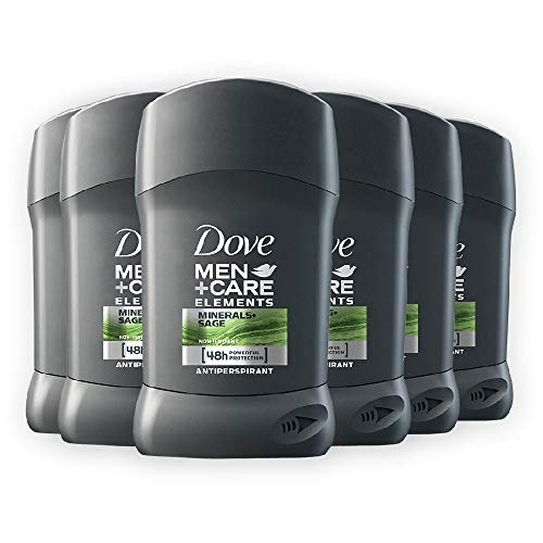 Dove Men+Care DMC, Deodorante Uomo in Stick Mineral&Sage, 6 pezzi da 40 ml