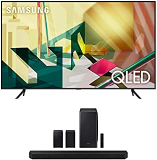 "Samsung QN85Q70TA 85"" 4K Ultra High Definition QLED Smart HDR TV with a Samsung HW-Q950T 9.1.4 Channel Soundbar with Dolby..."