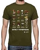 tostadora - T-Shirt Funghi S - Uomo Verde Militare L