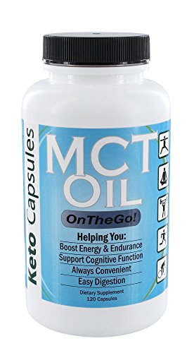 Keto Capsules: MCT Oil On The Go - 3000mg 120 Capsules - Supports Natural Energy, Cognitive Function, Endurance, Aids Ketogenic Weight Loss & Easy Digestion - with Caprylic Acid