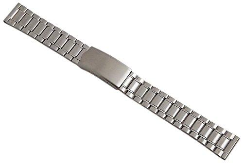 18mm Acero Inoxidable Pulsera de Reloj en Plata