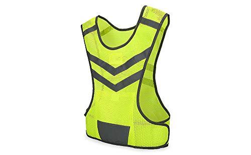 VGEBY Haute visibilité Gilet de sécurité pour Sports de plein air, vélo, Courir vert