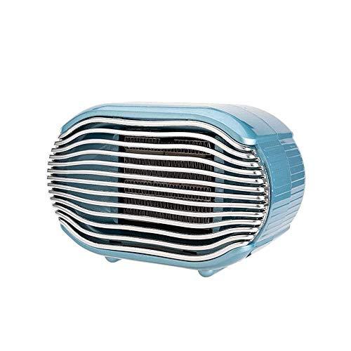 Palm kloset . Calentador de Oficina en casa Mini Calentador eléctrico Vertical Calentador rápido de Escritorio Peque?o (Azul, Verde, Rosa) (Color:Rosa) (Color : Blue)