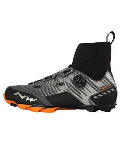 Northwave Raptor GTX Shoes Men Reflective/Orange Lobster Shoe Size EU 42 2019 Bike Shoes