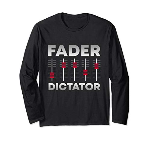 Soundboard Fader Dictator   Cool Musical Sound Engineer Langarmshirt