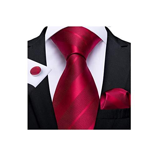 SJYDQ Regalo Hombre Lazo de la Novedad Diseño de Seda Tie de la Boda para los Hombres Handky Gemelos Set Set Fiesta Moda del Negocio (Color : B)