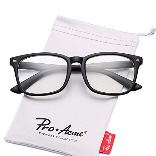 Pro Acme Non-prescription Glasses Frame Clear Lens Eyeglasses (Matte Black)