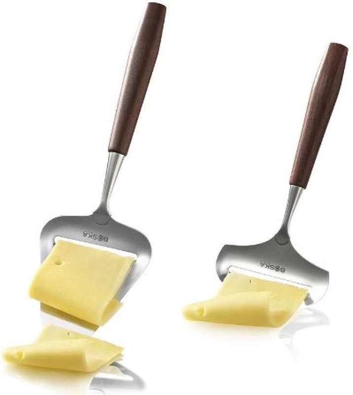 Boska Holland De Luxe Rosewood Stainless Steel Soft Hard Cheese Slicer 2 Piece Set