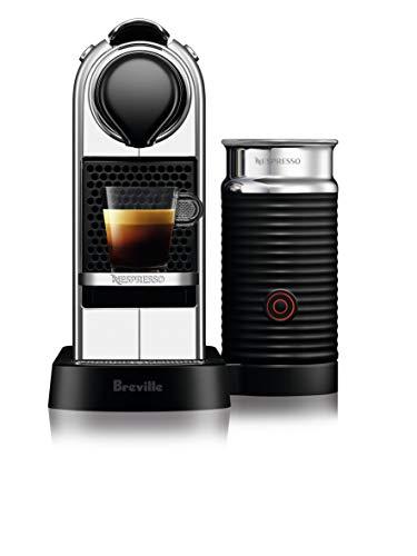 Breville Nespresso Citiz and Milk Espresso Machine, Crome, BEC660CRO