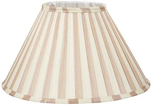 Better & Best lampenkap van zijde, smal, 40 cm, tweekleurig, taupe en beige gestreept