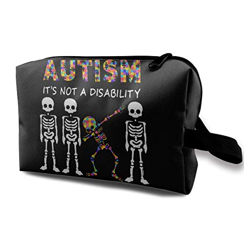 Travel Cosmetic Bag Ladies Cosmetic Bag Autism It's A Different, Waterproof Cosmetic Bag, Storage Bag with Zipper