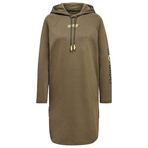 G-STAR RAW Sleeve Print Hooded Sweat Felpa con Cappuccio e Maniche, Combat A613-723, S Donna