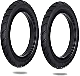 Lixada 8.5 Inch Front/Rear Scooter Tire Wheel Solid Replacement Tyre 8 1/2X2 Compatible with M365 Electric Scooter Skateboard (2 PCS)