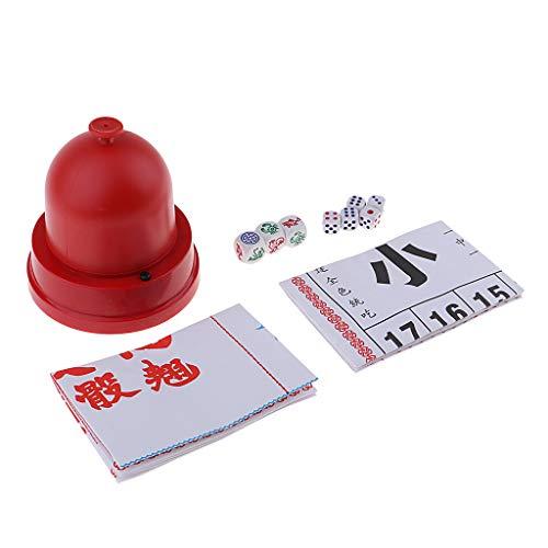 B Blesiya Chinesisches Würfelspiel, Papier-Spiel-Chinesisch-Traditionell- Geschenk Für Würfelspiel Liebhaber