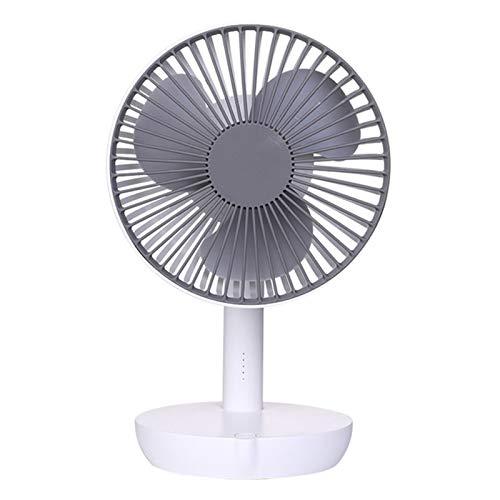 Fan silencioso de escritorio USB, velocidad de viento controlable de cinco velocidades / Ajuste de 90 ° hacia arriba y hacia abajo, ventilador portátil, adecuado para cama dormitorio de oficina,Blanco