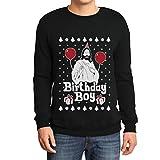 Maglione di Natale - Gesù Birthday Boy Felpa/Maglione da Uomo Small Nero