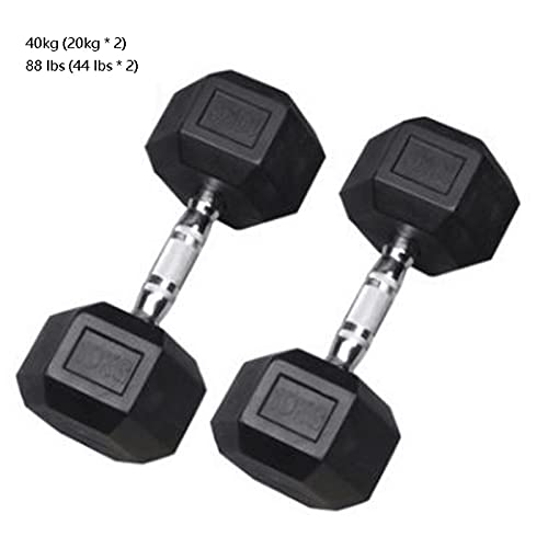 ZRL Musculación 2 Piezas Conjunto de Mancuernas con manijas de Metal Equipo de Ejercicio de Culturismo Equipo de Mancuernas Inicio Interior Fitness Equipos Dumbbells (Color : 20kg)