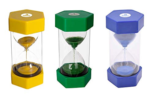 Sand Timer Set 1 Min, 3 Minutes, 5 Minutes Coloured Hourglasses, Classroom...