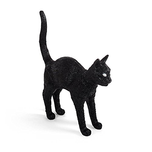 Seletti Jobby The Cat Lamp Black lampe de table en forme de chat noire