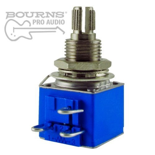 Bourns Model 82 Vintage Premium Guitar Potentiometer, 500K Audio, Knurled Split Shaft
