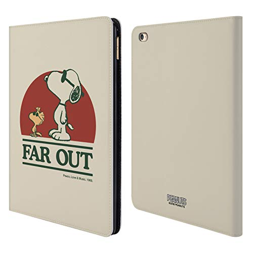 Head Case Designs Oficial Peanuts Snoopy Woodstock Lejos Woodstock 50º Carcasa de Cuero Tipo Libro Compatible con Apple iPad Air 2 (2014)