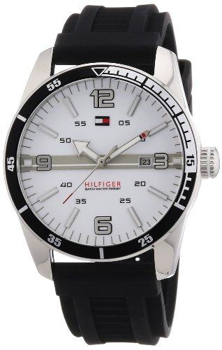 TOMMY HILFIGER Noah 1790919 - Reloj analógico de Cuarzo para Hombre, Correa de Silicona Color Negro