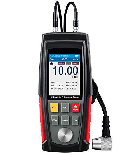 Medidor de espesor ultrasónico, Rango 1~200 mm y resolució