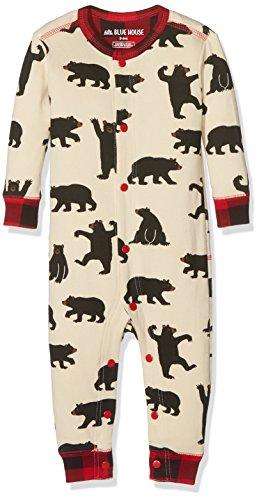 Hatley Union Suits Pyjama, Blanc (Ours Noirs), 18 Mois Mixte bébé