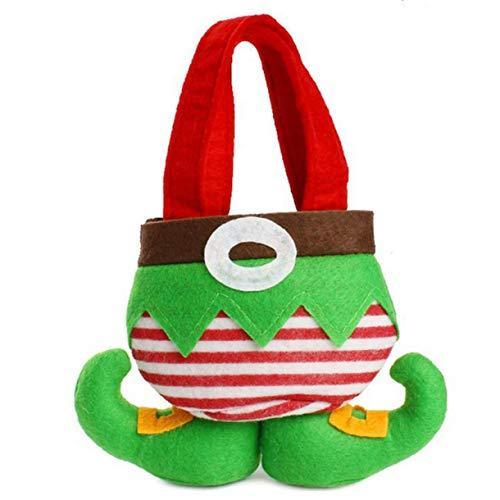 dfhdrtj Originele Kerstman Elf Candy Bag Party Home Decor Behandel Geschenken Present Filler Broek Maat 1 Kleur Groen