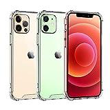 OTBBA iPhone12 ケース iPhone12pro ケース クリア 薄型 耐衝撃 カメラ保護 黄変防止 ストラップホール付き 透明カバー アイフォン12/12pro対応 6.1インチ