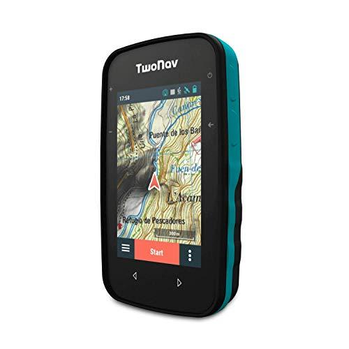 """TwoNav - GPS Cross - Multideporte Bicicleta Ciclismo BTT Senderismo Trekking/Compacto y Ligero/Pantalla 3.2"""" / Autonomía 20 h/Memoria 32 GB/Mapa topográfico Incluido"""