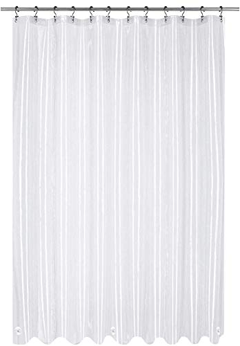 Utopia Bedding 10 Gauge EVA Shower Curtain Liner, 72 by 72 Inches, Eco...