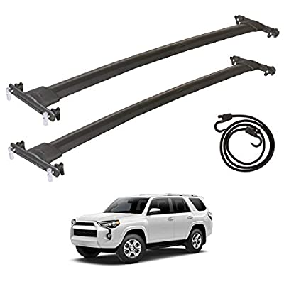 TUNTROL OE Style Crossbars Roof Rack Replacement Fit for Toyota 4Runner 2010-2021 Aluminum Luggage Cargo Carrier,Black