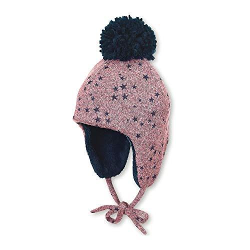 Sterntaler Inka-Mütze für Mädchen mit Bommel und Bindebändern, Gefüttert, Alter: 12-18 Monate, Größe: 49, Helllila/Blau