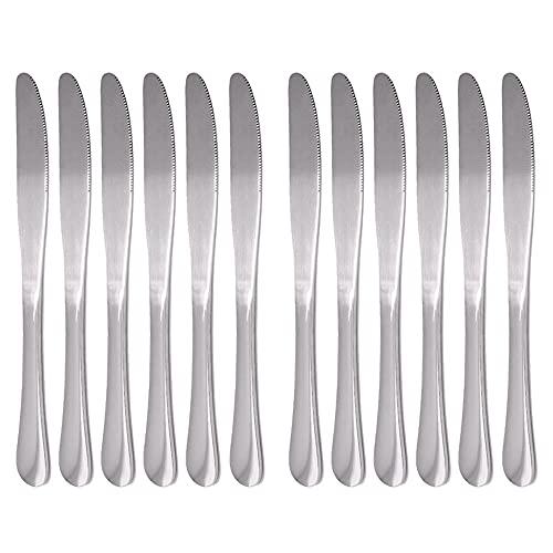 Wowfeu - Juego de cuchillos de mesa de acero inoxidable para niños