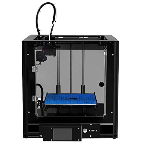Imprimante USB USB, imprimante 3D LCD, buse d'imprimante 3D 0.4, portabilité personnelle Bricolage Support des imprimantes 3D Carte CD Incluse Filament ABS/PLA 1x1.75mm,Black