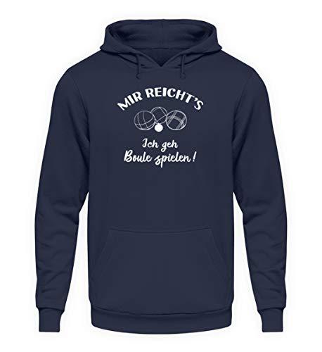 shirt-o-magic Petanque: Ich GEH Boule Spielen! - Unisex Kapuzenpullover Hoodie -5XL-Oxford Navy