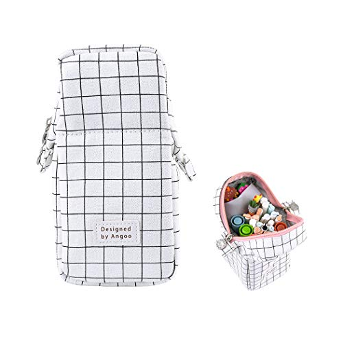 iSuperb Canvas Stand Up Pencil Case Bag Large Capacity Pencil Holder Case Stationery Pouch
