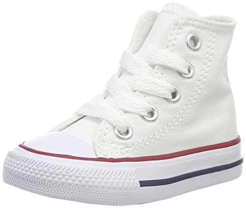 Converse Unisex-Kinder Chuck Taylor All Star High Lauflernschuhe, Weiß (Optical White 102), 19 EU