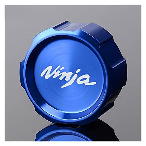 HDDTW Tapas De Gasolina Decorativas Más Calientes para Kawasaki Ninja H2R Ninja 250SL ABS Ninja 300 ABS Serie Motocicleta CNC Achter Tapa De Depósito De Freno Tapa De Protección (Color : Azul)