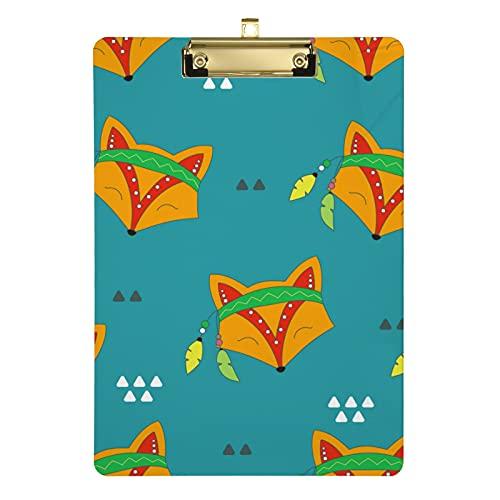 Appunti carini volpe per bambini, uomini e donne ragazze, design alla moda formato lettera in acrilico, dimensioni standard 31,8 x 22,9 cm (20307958)