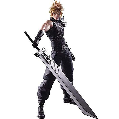 Generic Figur Kai - Figur Claude - Ausgestattet mit austauschbaren Waffen und Händen - Top 27CM Final Fantasy Cloud Strife Play Arts