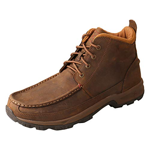 """Twisted X Men's 4"""" Driving Moc Hiker, Brown, 8(M)"""