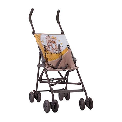 Lorelli Kinderwagen, Buggy Flash, faltbar auf 20 x 106 cm, ideal für Reisen beige gelb