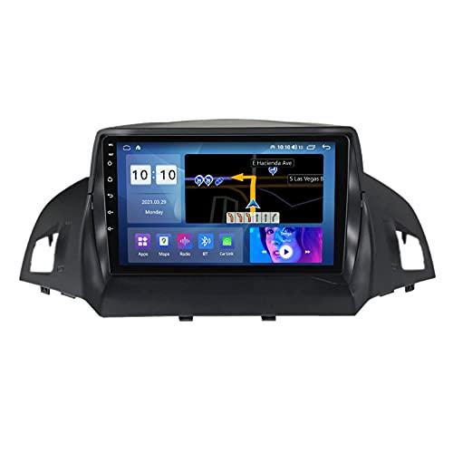 ADMLZQQ Pantalla Táctil Completa De 9 Pulgadas Navegación Multimedia para Ford Kuga 2012-2019 Android 10 Navegación GPS De Radio De Coche con SWC/Carplay/Dsp/Bluetooth,M300s8core3+32