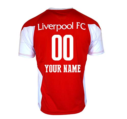 Liverpool fc Soccer Jersey Adult Men's Training White red 2020 Custom Name and Number (RED, S)