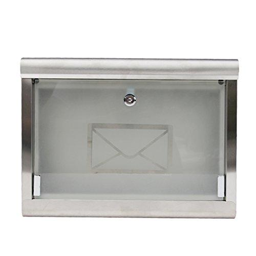 QAR Regendichte brievenbus voor aan de muur, 304, roestvrij staal, brievenbus met glas, outdoor-mode